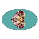 Floral Jacquard Oval Decal