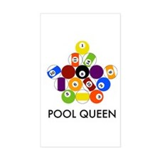 Pool Queen Rectangle Decal