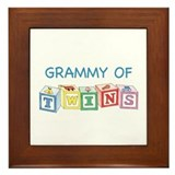 Grammy of Twins Framed Tile