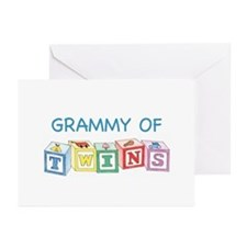 Grammy of Twins Greeting Cards (Pk of 10)