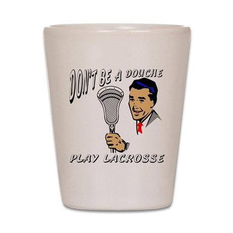 Lacrosse Play Shot Glass