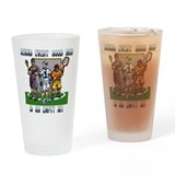 Lacrosse Players Empty Net Pint Glass