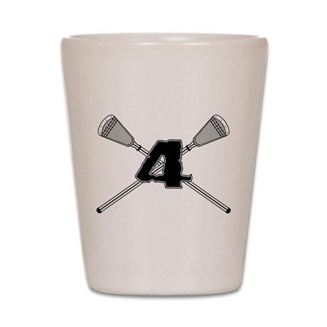 Lacrosse 4 Shot Glass