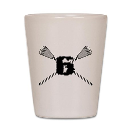 Lacrosse 6 Shot Glass
