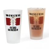 Lacrosse Goalie Wall Pint Glass