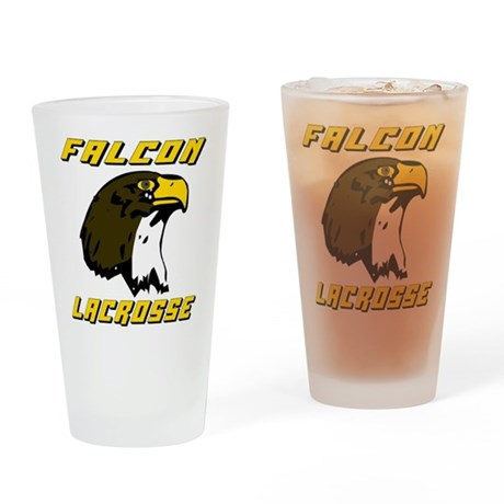 Lacrosse Falcons Pint Glass