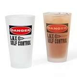 Lacrosse Control Danger Pint Glass
