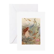 Mermaid Lass Greeting Card