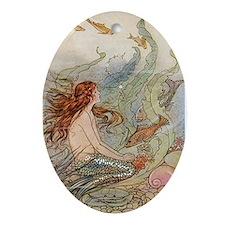mermaid lass Ornament (Oval)