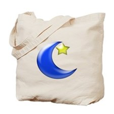 Moon and Star Tote Bag