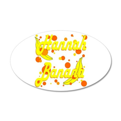 Hannah Banana 22x14 Oval Wall Peel