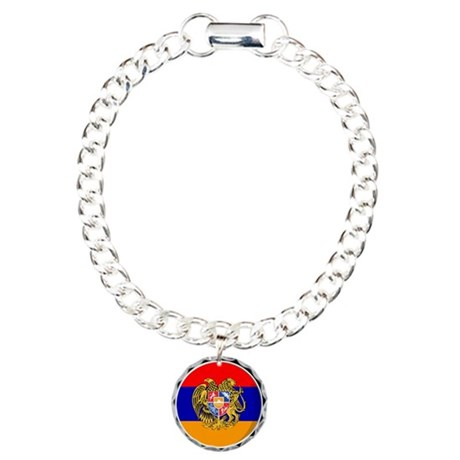 Cool Armenian flag designs Charm Bracelet, One Cha