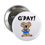Australian Koala G'Day Button/Badge (100 pack)