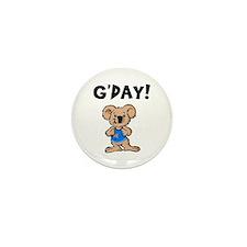 Australian Koala G'Day Mini Button (10 pack)
