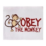 Obey The Monkey Throw Blanket