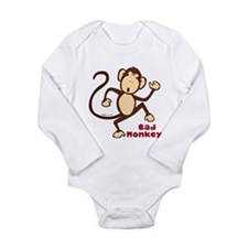Bad Monkey Long Sleeve Infant Bodysuit