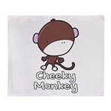 Cheeky Monkey Throw Blanket