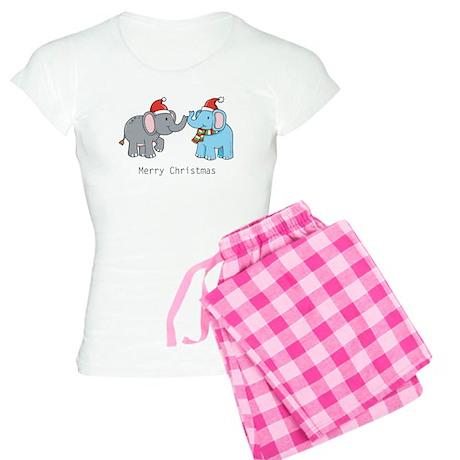 Elephant Christmas Women's Light Pajamas