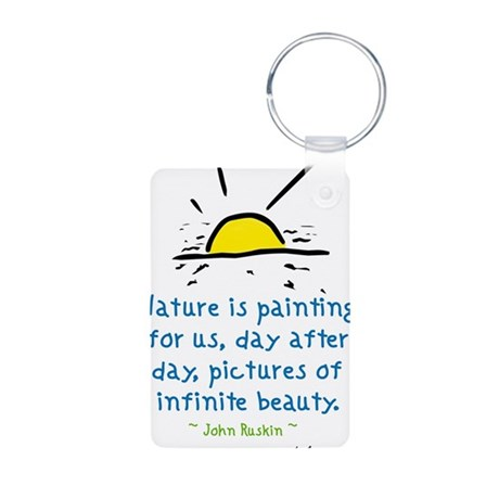 Infinite Beauty Aluminum Photo Keychain