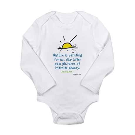 Infinite Beauty Long Sleeve Infant Bodysuit