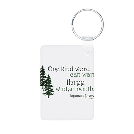 Kind Word Aluminum Photo Keychain