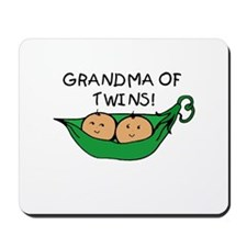 Grandma of Twins Pod Mousepad