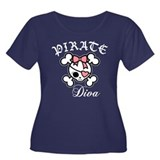 Pirate Diva -pink Women's Plus Size Scoop Neck Dar