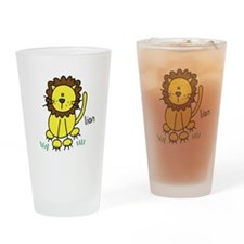 Cute Lion Pint Glass