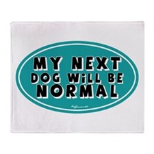 Normal Next Dog Throw Blanket