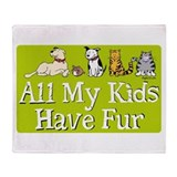 All My Fur Kids Throw Blanket