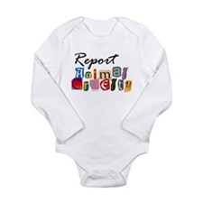 Report Animal Cruelty Long Sleeve Infant Bodysuit
