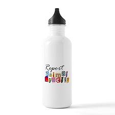 Report Animal Cruelty Water Bottle