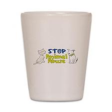 Stop Animal Abuse Shot Glass