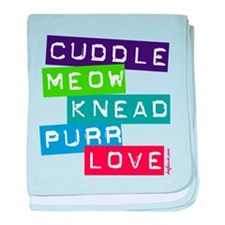 Cuddle Meow Knead Purr Love baby blanket