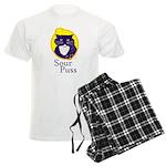 Funny Sour Puss Cat Men's Light Pajamas