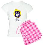 Funny Sour Puss Cat Women's Light Pajamas