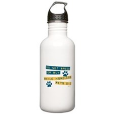 Do Not Breed or Buy Labels Water Bottle