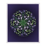 Hummingbird art Throw Blankets