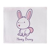 Honey Bunny Throw Blanket