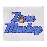 Love Monkey Throw Blanket