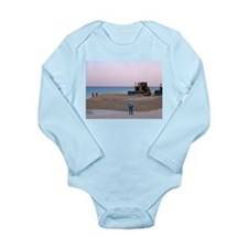 Men At Work Long Sleeve Infant Bodysuit