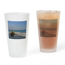 Bob Cat on the Beach Pint Glass