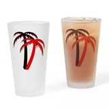 Red Palms Pint Glass