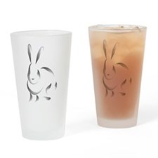 Rabbit Pint Glass