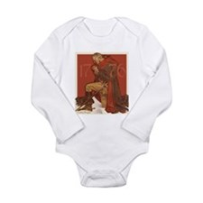 George Washington in Prayer Long Sleeve Infant Bod