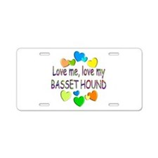 Basset Aluminum License Plate