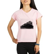 Black and White Steam Engine Women's Sports T-Shir