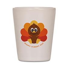 Happy Turkey Day Shot Glass