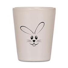 Rabbit Face Shot Glass