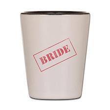 Bride Stamp Shot Glass